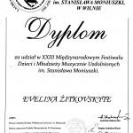 Diplomantė Evelina Žitkovskytė