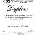 Diplomantė Mėta Matijevskytė