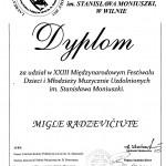 Diplomantė Miglė Radzevičiūtė