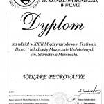 Diplomas Vakare Petrovaite