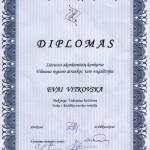 Diplomas Evai Vitkovskai