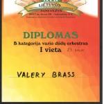 I vietos Diplomas Valery Brass