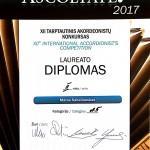 II vietos Diplomas Matui Sabaliauskui
