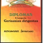 Diplomas geriausiam dirigentui