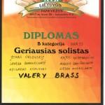 Diplomas geriausiems solistams